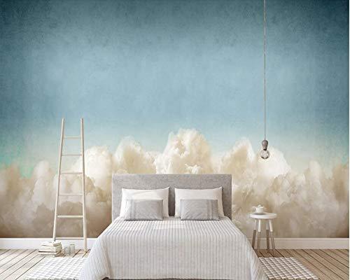 "BZDHWWH Blauer Himmel Wolken Dekorative Malerei 3D Tapete Wohnzimmer Sofa Tv Wand Kids'Room Tapeten Wohnkultur Wandbild,12'5"" X 7'10""(Ft)"