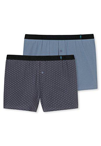 Schiesser Herren Boxershorts 95/5 Shorts (2er Pack), 2er Pack, Grau (Anthrazit 203), Large (Herstellergröße 006) (Pima-baumwolle Unterwäsche Herren)