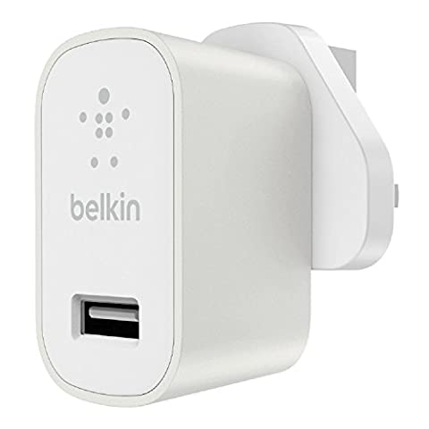 Belkin Premium MIXIT↑ Fast 2.4A Wall USB Mains Charger for Apple iPhone 5/ 5s/ 6/ 7 and Apple iPad Air, iPad 2, iPad Mini (UK Plug) -