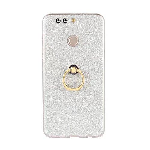 Soft Flexible TPU Back Cover Case Shockproof Schutzhülle mit Bling Glitter Sparkles und Kickstand für Huawei Hornor V9 ( Color : Blue ) White