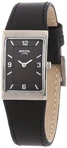 Reloj de mujer Boccia B3186-02 de cuarzo, correa de piel color negro de Boccia