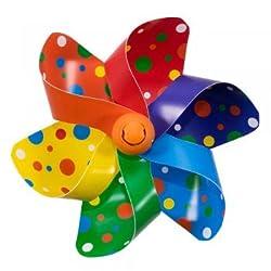 CIM Fahrrad-Windmühle - Moulin Velo 12cm - Rainbow Dots - Windrad Ø12cm - Windspiel für alle Fahrräder, Roller, Dreiräder, Laufräder, Kinderwagen und Buggys