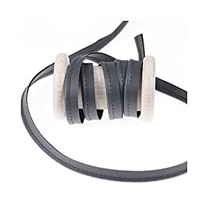 Ruban passepoil simili cuir au mètre - Gris - Largeur 10mm