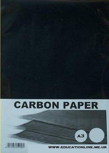 A3 CARBON PAPER 20 SHEET PACK COLOUR - BLACK