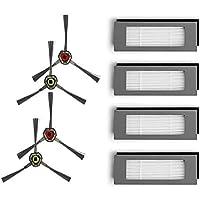 Amoy Reemplazo Kit de Filtro y Cepillo Lateral Compatible Ecovacs Deebot OZMO 610 Aspiradora Robótica