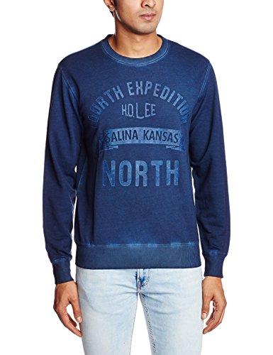 Lee Men's Cotton Sweatshirt (8907222296599_LESS1707_Medium_Indigo)