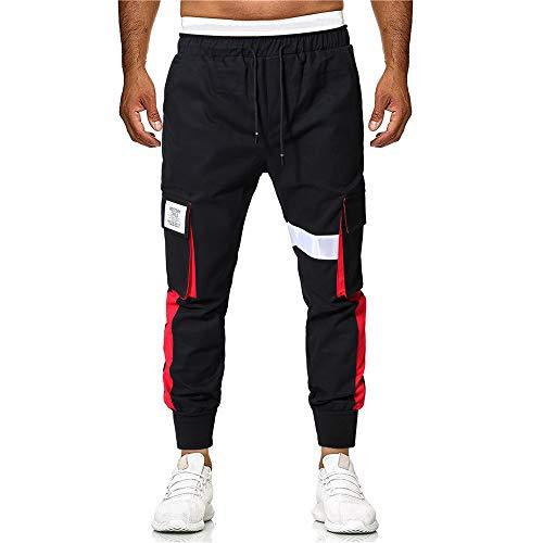 Aiserkly Sommer Herren Multi-Pocket Arbeitshose Cargo Hose Freizeithose Lang Trousers Tapered Hose Slim Fit