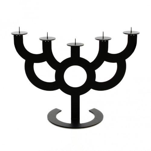 little-menorah-big-bold-candelabro-metallo-nero-h-40cm-x-54cm