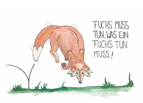 Carte-postale-Renard-Renard-doit-faire-ce-quun-renard-doit-faire-Humour-Humoristique-Carte