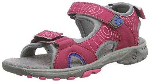 Jack Wolfskin LAKEWOOD CRUISE SANDAL G, Mädchen Sport- & Outdoor Sandalen, Pink (pink raspberry 2045), 36 EU (3.5 Kinder UK)