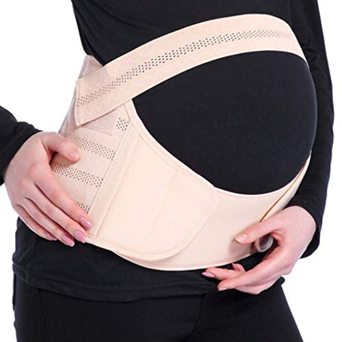 Balock Schuhe Umstandsgürtel für Schwangere - Bauchband Schwangerschaft Stützgürtel - Schwangerschaftsgurt Bauchstütze Bauchgurt Schwangerschafts Bandage Umstandsgürtel - 1 Stück (Beige, XL)