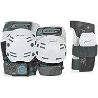 Powerslide Kit de seguridad para adultos, 6 piezas, color blanco y negro blanco gris Talla:extra-large