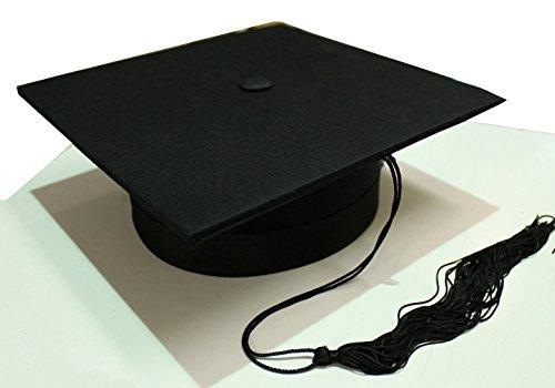 Tocco cappello da laureato lusso in tessuto anima rigida laurea nero 6437f1eecdf8