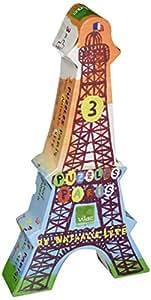 Vilac - 8605 - Jouet en Bois - Puzzles Tour Eiffel - Nathalie Lété