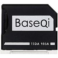"Micro Sd Adapter - BaseQi NINJA STEALTH DRIVE Netzteil Micro SD Aluminium silber Edge für MacBook Air 13"" - MacBook Pro 13"" (NO RETINA)"