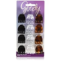 Goody 1942512 Classics Small Half Claw Clip, Multi-Colour ' 12 Units