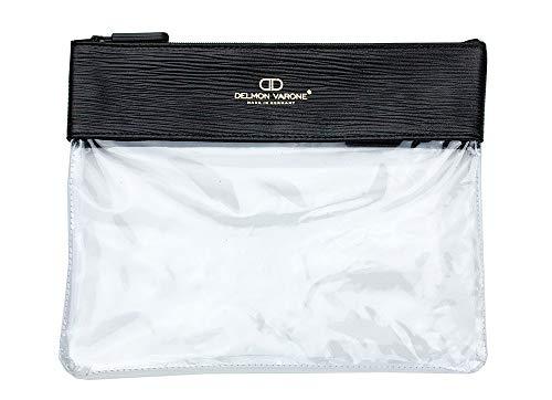 Flugsicherheitsbeutel Premium Leder Manhattan schwarz mit Paglia Narbung -