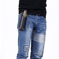 Idea Regalo - Ayuboom - Porta-birra in pelle da cintura, accessorio da uomo