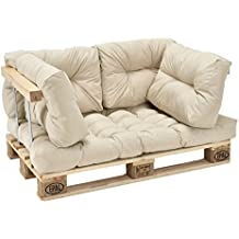 [en.casa] Cojines para sofá de palés europalés - set-