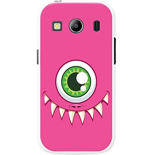 Monster Faces cover/custodia rigida per cellulari Samsung, PLASTICA, One Eyed Pink Monster Face, Samsung Galaxy Ace 4