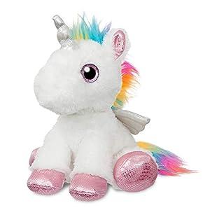 Aurora- Sparkle Tales Alicorn Peluches y muñecas, Color Blanco (61018)