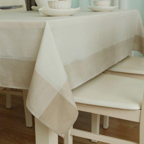 WFLJL Nappe Stylestyle européenne l'Artex couleur Table basse Rural blanc 140X180cm