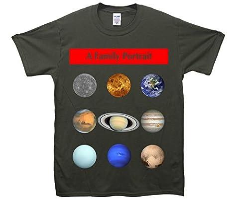 Family Portrait Solar System T-Shirt - Khaki - X-Large (46-48 inches)