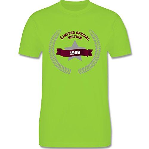 Geburtstag - 1986 Limited Special Edition - Herren Premium T-Shirt Hellgrün