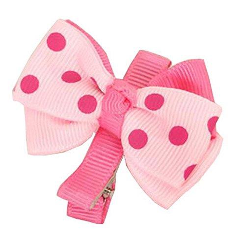 10PCS - pinces à cheveux bowknot pour les filles de bébé, rose
