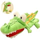 JUSTDOLIFE Giocattolo di narrazione del burattino della peluche del coccodrillo adorabile del fumetto del burattino di mano per i bambini