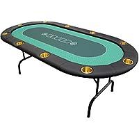 Bullets Playing Cards Pokertisch klappbaren Beinen- Deluxe Ausführung mit Zehn Großen Becherhaltern