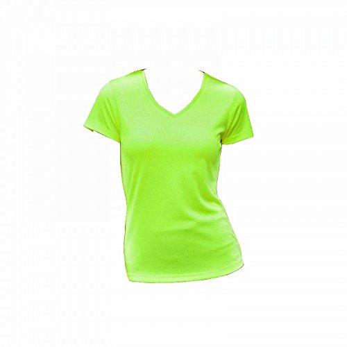AWDis - T-shirt à col en V - Femme Vert citron