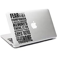 Doctor Who Cita Vinilo Miedo Es un compañero MacBook adhesivo coche ventana adhesivo