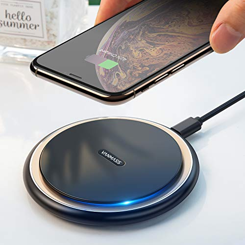 15W Wireless Charger Fast Qi Induktive Ladestation Aluminium 15W/10W/7.5W Induktions Ladegerät Kabellos Still-Lademodi Wireless Ladestation für iPhone11/XS/XR Samsung S10/Note10/S9 Alle Qi-Fähig Gerät