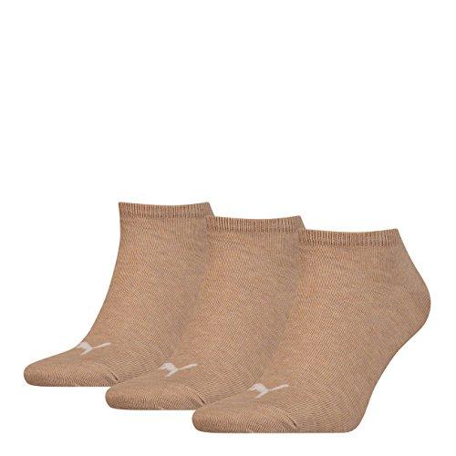 PUMA 3 Paar Puma Sneaker Invisible Socken Gr. 35 - 49 Unisex für Damen Herren Füßlinge, Socken & Strümpfe:35-38, Farbe:050 - beige mélange