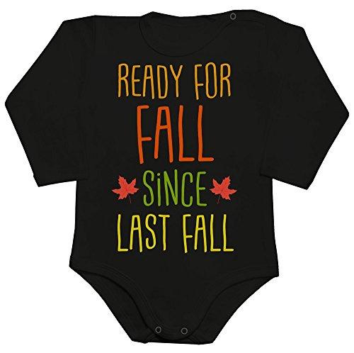 Ready For Fall Since Last Fall Colorful Autumn Design Baby Romper Long Sleeve Bodysuit Babyspielanzug XX-Large