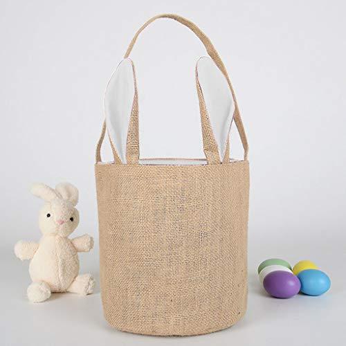 Webla Cute Rabbit Organizer Bag Korb Ei Tasche Candy Canvas Eier Für Weihnachten Urlaub Geschenk 22X20 CM (Taschen Candy Lego)