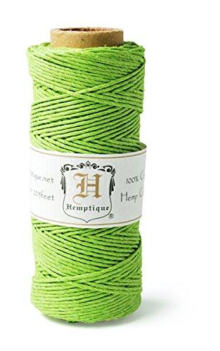Hemptique Bobine de fil de chanvre 9 kg Vert citron 50g