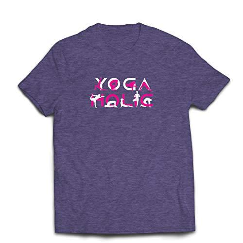 lepni.me Männer T-Shirt Yoga Holic, Positive Vibrationen, motivierende Workout-Zitate, Yogi-Liebhaber-Geschenk (Small Heidekrautgrau Mehrfarben)