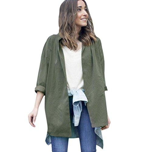Zolimx Mode Frauen Dünne Jacke Windbreaker Outwear Wolljacke Mantel