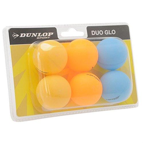 Dunlop Glow Tischtennisbälle, 6Stück Einheitsgröße  - Duo Glo