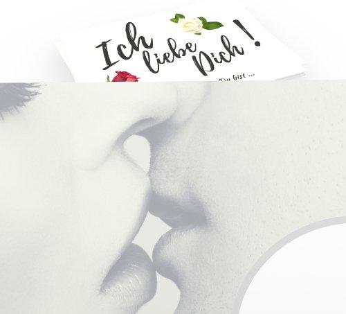 Jahrestag Geschenk für sie & ihn - Elegant Ich liebe Dich sagen - Süße Liebeserklärung für Frau & Mann - Coole Geschenkidee zum Finden Lassen - 15 exklusive Deko Überraschungs-Karten