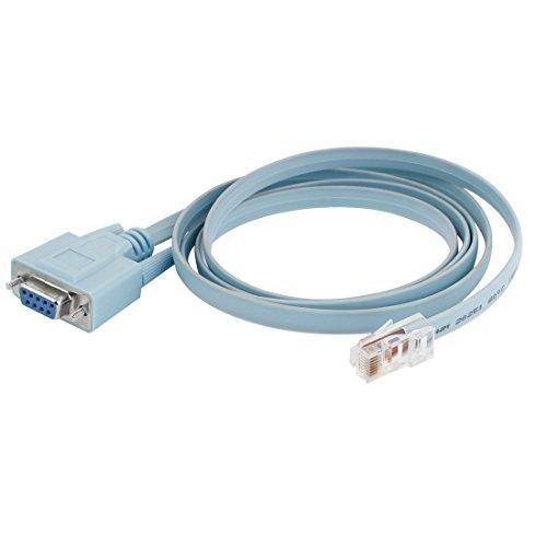 Preisvergleich Produktbild sourcingmap® Konverter Rs232, DB9 auf RJ45, Cat5 Netzwerkkabel/Ethernetkabel für Oberfräsen