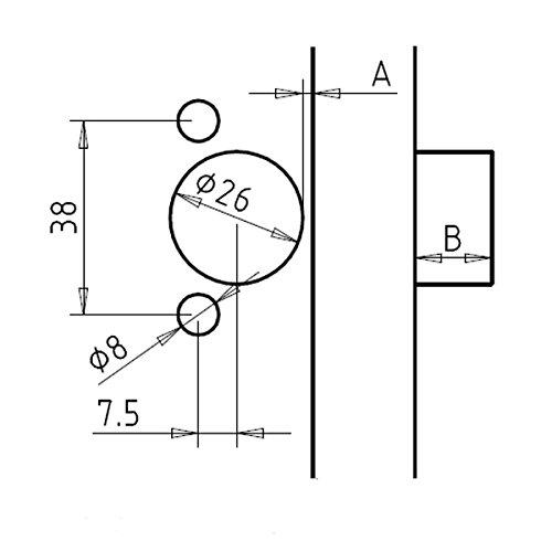 CMT Orange Tools 333-3875 CMT-tête modulaire mini Charnière 38/7,5