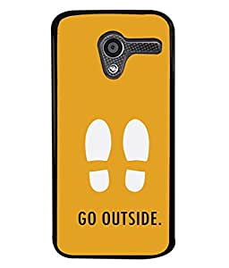PrintVisa Designer Back Case Cover for Motorola Moto X :: Motorola Moto X (1st Gen) XT1052 XT1058 XT1053 XT1056 XT1060 XT1055 (Foot prints Out side )