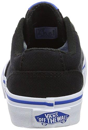 Vans  Yt Winston, Sneakers Basses garçon Noir (Woven Black/blue)