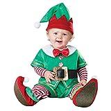 LvRaoo Unisex Baby Strampler Weihnachtself Jungen Mädchen Overalls Cosplay Halloween Weihnachten Kostüm (Grün Elfe, 100)