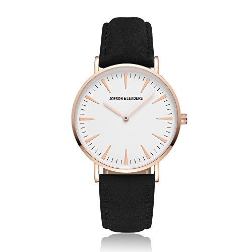 JOESON LEADERS Damen Uhr Analog Quarz mit Leder Armband
