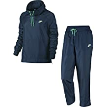 Nike W Nsw Trk Suit Wvn Oh Chándal, Mujer, Azul (Squadron Blue/Electro Green), XS