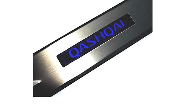 Qashqai acciaio inossidabile tuning battitacco con led amazon